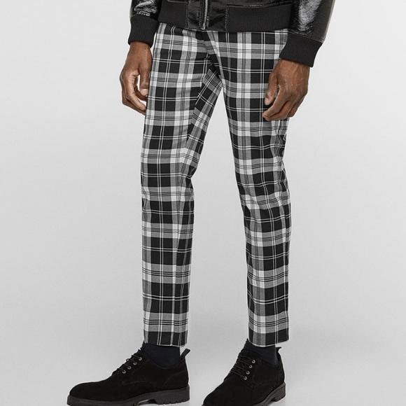 c26d03cc Zara Pants | Mens Bw Plaid Tartan Sz 31 Nwt | Poshmark